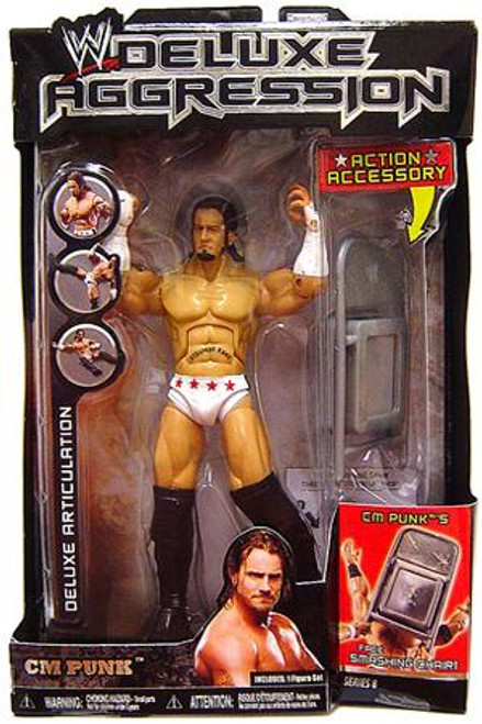 WWE Wrestling Deluxe Aggression Series 8 CM Punk Action Figure