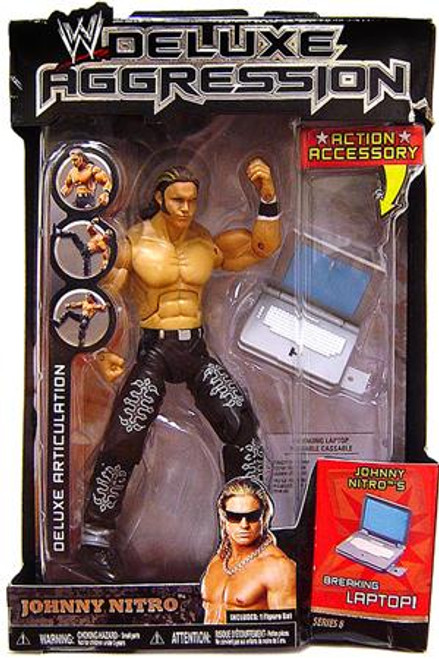 WWE Wrestling Deluxe Aggression Series 8 Johnny Nitro Action Figure