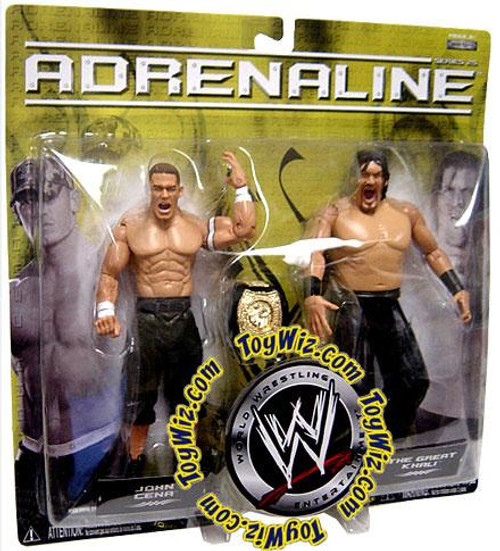 WWE Wrestling Adrenaline Series 25 John Cena & The Great Khali Action Figure 2-Pack