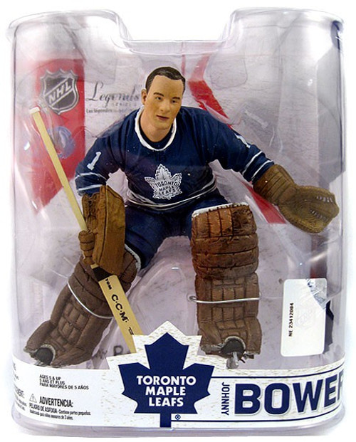 McFarlane Toys NHL Toronto Maple Leafs Sports Picks Legends Series 6 Johnny Bower Action Figure [Blue Jersey]