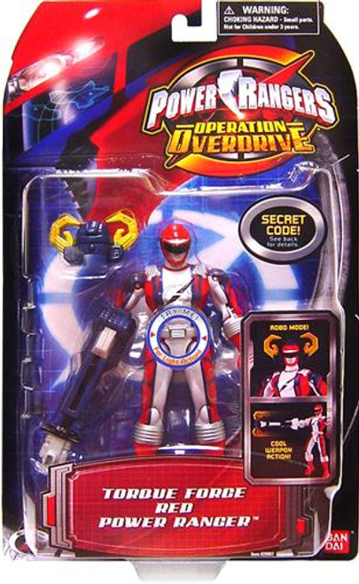 Power Rangers Operation Overdrive Torque Force Red Power Ranger Action Figure