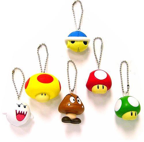 Super Mario Set of 6 Keychains [Foam]