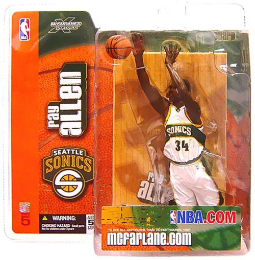McFarlane Toys NBA Seattle Supersonics Sports Picks Series 5 Ray Allen Action Figure [White Jersey]