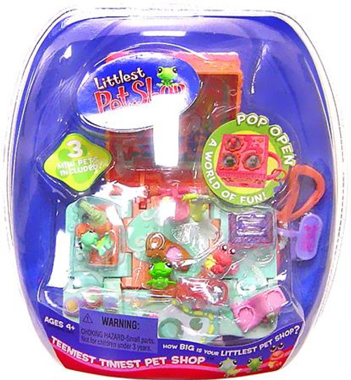 Littlest Pet Shop Teeniest Tiniest Pet Shop Frog, Crab & Lizard Mini Playset