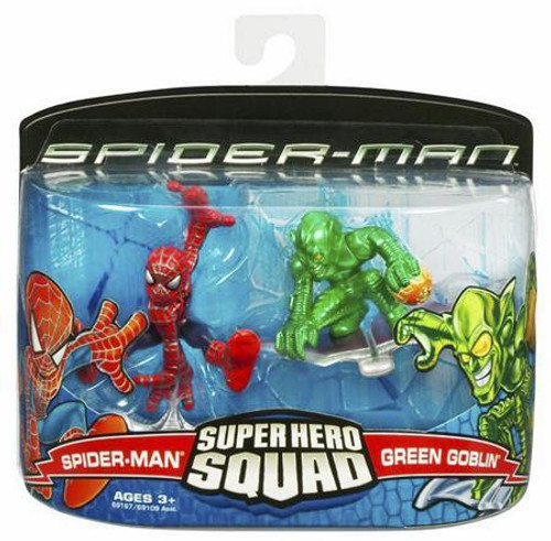 Spider-Man Movie Super Hero Squad Spider-Man & Green Goblin Action Figure 2-Pack