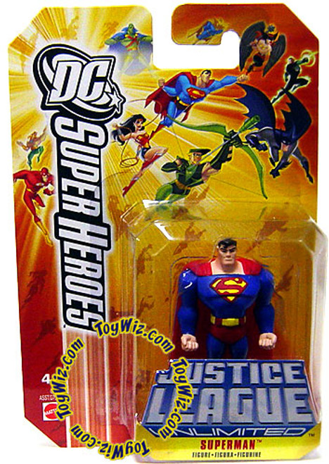 DC Justice League Unlimited Super Heroes Superman Action Figure [Yellow Card]