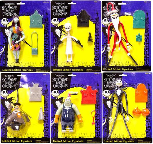 NECA The Nightmare Before Christmas Bendable Set of 6 Figures