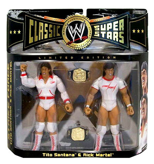 WWE Wrestling Classic Superstars Series 6 Rick Martel & Tito Santana Exclusive Action Figure 2-Pack