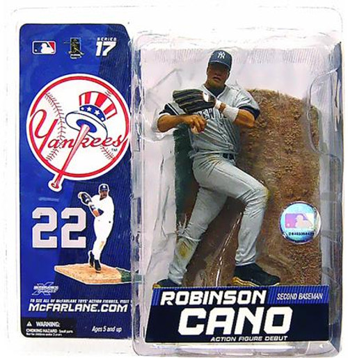 McFarlane Toys MLB New York Yankees Sports Picks Series 17 Robinson Cano Action Figure [Gray Jersey Variant]