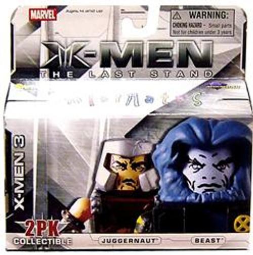 Marvel X-Men The Last Stand Minimates Series 14 Juggernaut & Beast Minifigure 2-Pack