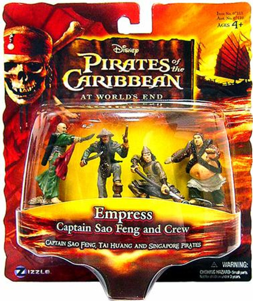 Pirates of the Caribbean At World's End Captain Sao Feng and Crew 3.75-Inch PVC FIgures [Empress]