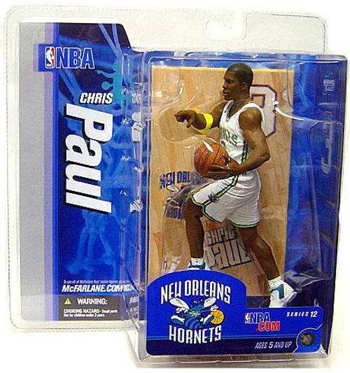 McFarlane Toys NBA New Orleans Hornets Sports Picks Series 12 Chris Paul Action Figure [White Jersey Variant]