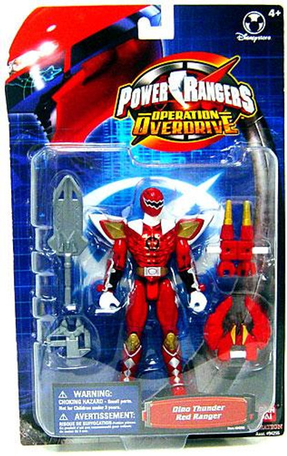 Power Rangers Operation Overdrive Dino Thunder Red Ranger Exclusive Action Figure
