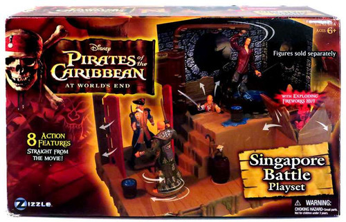 Pirates of the Caribbean At World's End Singapore Battle Playset