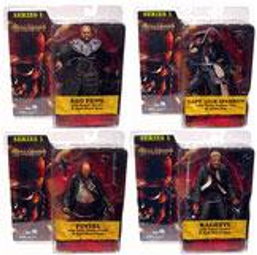 NECA Pirates of the Caribbean At World's End Series 1 Set of 4 Action Figures
