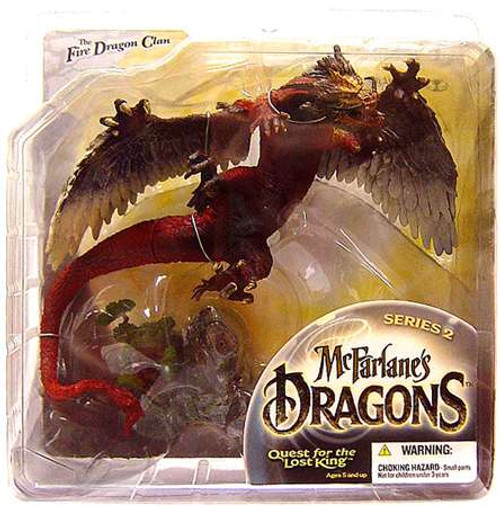McFarlane Toys McFarlane's Dragons Quest for the Lost King Series 2 Fire Clan Dragon 2 Action Figure [Paint Variant, Damaged Package]