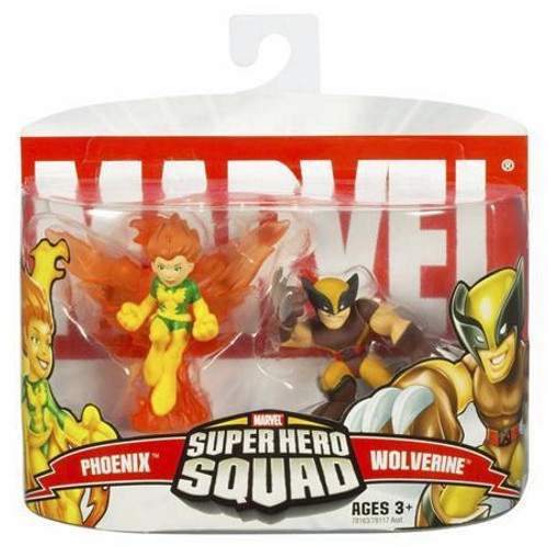 Marvel Super Hero Squad Series 4 Phoenix & Wolverine Action Figure 2-Pack