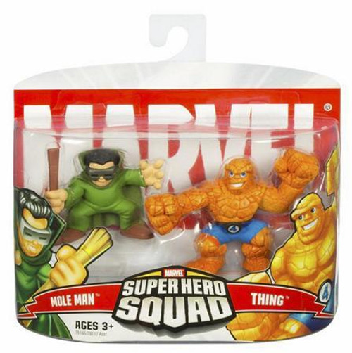 Marvel Super Hero Squad Series 4 Mole Man & Thing Action Figure 2-Pack
