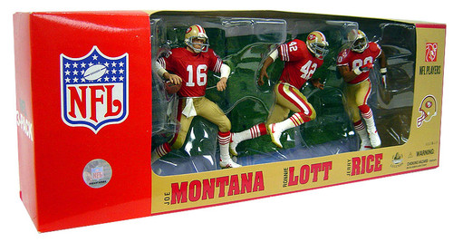 McFarlane Toys NFL Sports Picks 3-Packs San Francisco 49ers Exclusive Action Figure 3-Pack