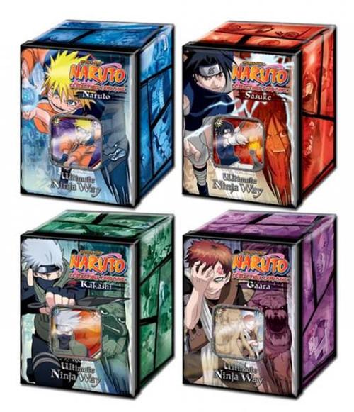 Naruto Card Game Set of 4 Ultimate Ninja Way Collector Tins