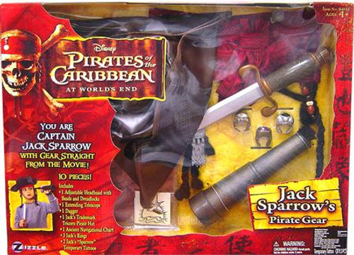 Pirates of the Caribbean At World's End Jack Sparrow's Pirate Gear Roleplay Toy
