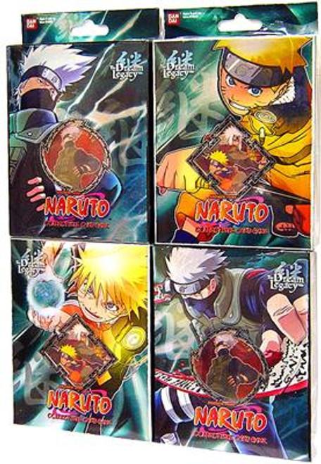 Naruto Card Game Set of 4 Dream Legacy Theme Decks