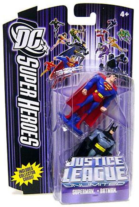DC Justice League Unlimited Super Heroes Superman & Batman Action Figures