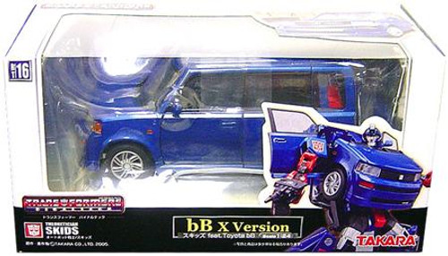 Transformers Japanese Binaltech Toyota Scion B Skids Action Figure BT-16