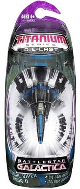 Battlestar Galactica Titanium Series Colonial Viper Mark II Diecast Vehicle [Black]