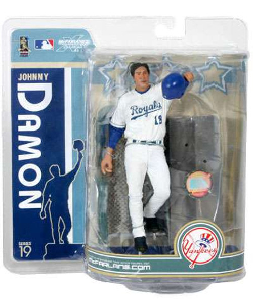 McFarlane Toys MLB Kansas City Royals Sports Picks Series 19 Johnny Damon Action Figure [Royals Variant]