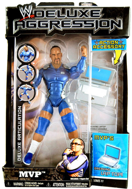 WWE Wrestling Deluxe Aggression Series 11 MVP Action Figure