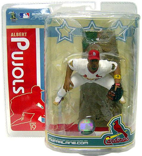 McFarlane Toys MLB St. Louis Cardinals Sports Picks Series 19 Albert Pujols Action Figure [White Jersey Gold Wristband]