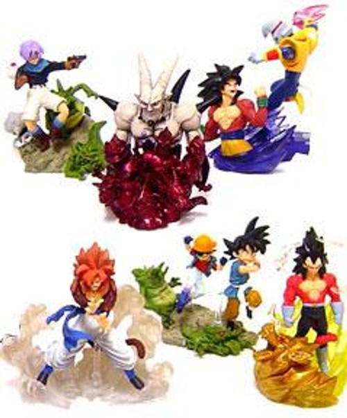 Dragon Ball GT Battle Scenes Set of 6 3.5-Inch PVC Figures