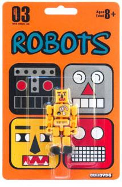 Stikfas Robots Cuboyds Series 03 Cuboyd ro-1235 Action Figure [Yellow]