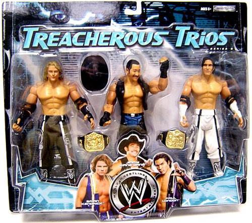 WWE Wrestling Treacherous Trios Series 6 Paul London, Brian Kendrick & Jimmy Wang Yang Exclusive Action Figure 3-Pack