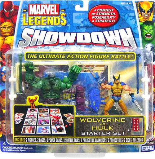 Marvel Legends Superhero Showdown Starter Set with Wolverine & Hulk Action Figures