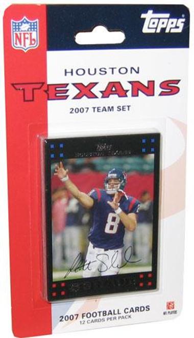 NFL 2007 Topps Football Cards Houston Texans Team Set