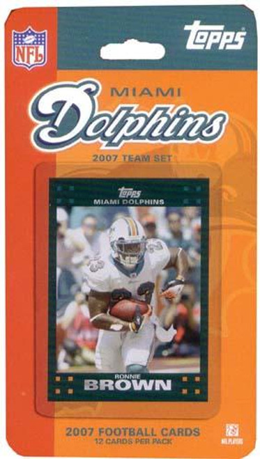NFL 2007 Topps Football Cards Miami Dolphins Team Set