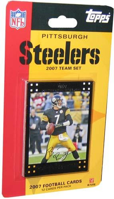 NFL 2007 Topps Football Cards Pittsburgh Steelers Team Set