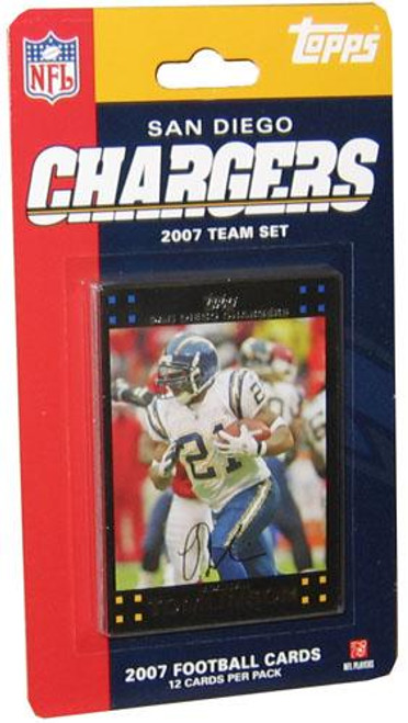 NFL 2007 Topps Football Cards San Diego Chargers Team Set