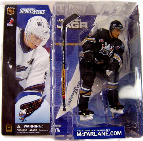 McFarlane Toys NHL Washington Capitals Sports Picks Series 2 Jaromir Jagr Action Figure [Black Jersey Variant]