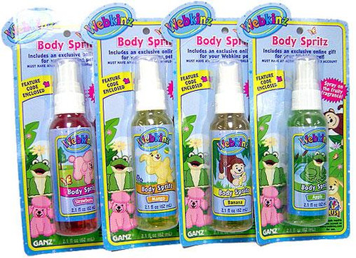 Webkinz Body Mist Spritz Set of 4 [Random Flavor]