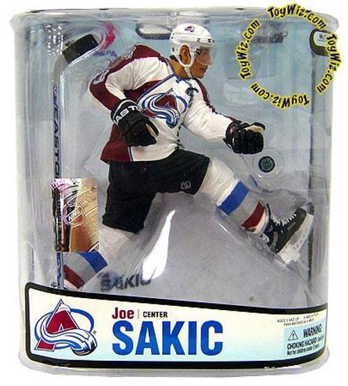 McFarlane Toys NHL Colorado Avalanche Sports Picks Series 18 Joe Sakic Action Figure [White Jersey]