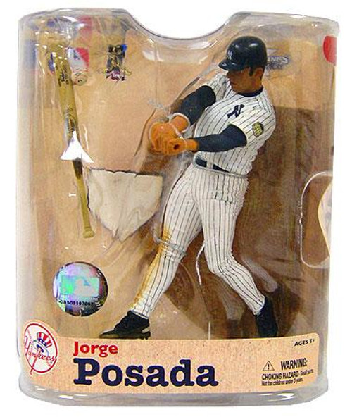 McFarlane Toys MLB New York Yankees Sports Picks Series 21 Jorge Posada Action Figure [Pinstripes Jersey]