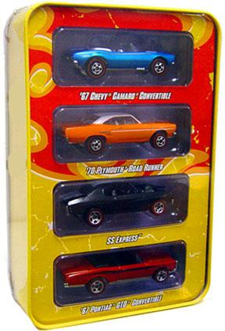 Hot Wheels Since '68 Top 40 Muscle Cars Tin Set Diecast Vehicle 4-Pack [1 of 2]