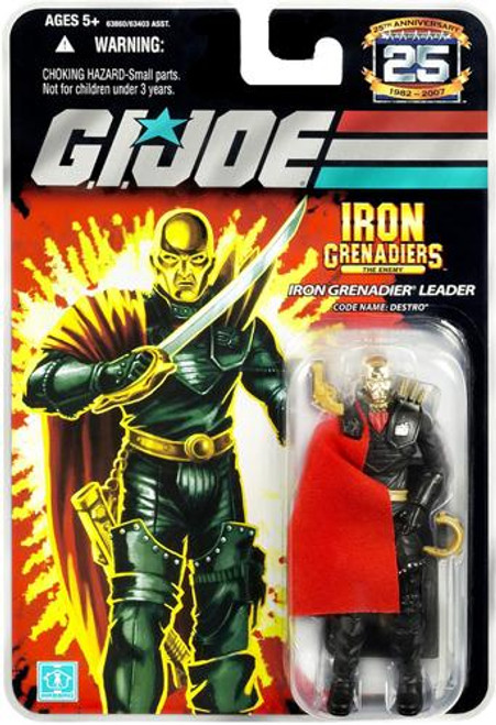 GI Joe 25th Anniversary Wave 5 Destro Action Figure [Iron Grenadier Leader]