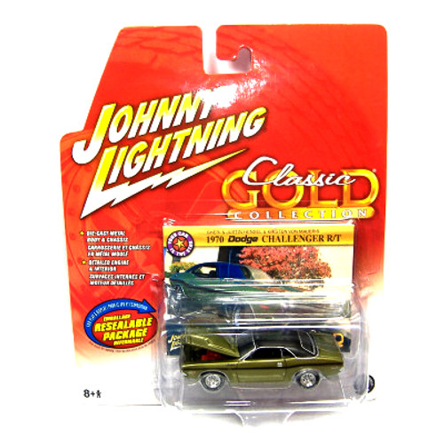 Johnny Lightning Classic Gold Collection 1970 Dodge Challenger R/T Diecast Car
