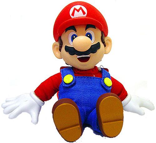 Super Mario Mario 7-Inch Plush [Vinyl Hands, Head & Feet]