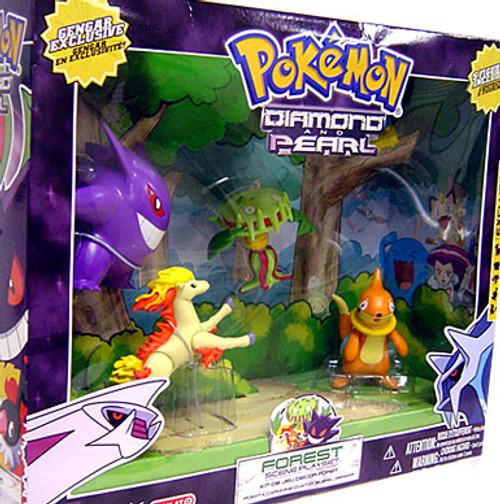 Pokemon Diamond & Pearl Forest Scene Playset Exclusive Figure Set [Loose]