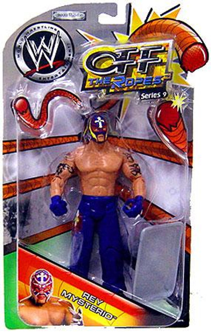 WWE Wrestling Off The Ropes Series 9 Rey Mysterio Action Figure